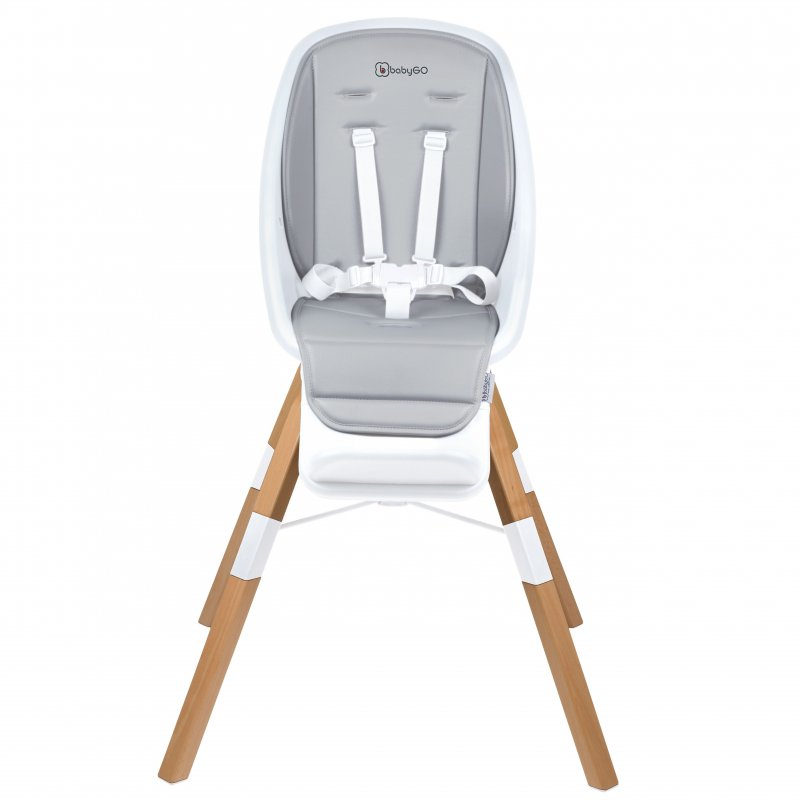 Babygo jídelní židlička CAROU 360° White