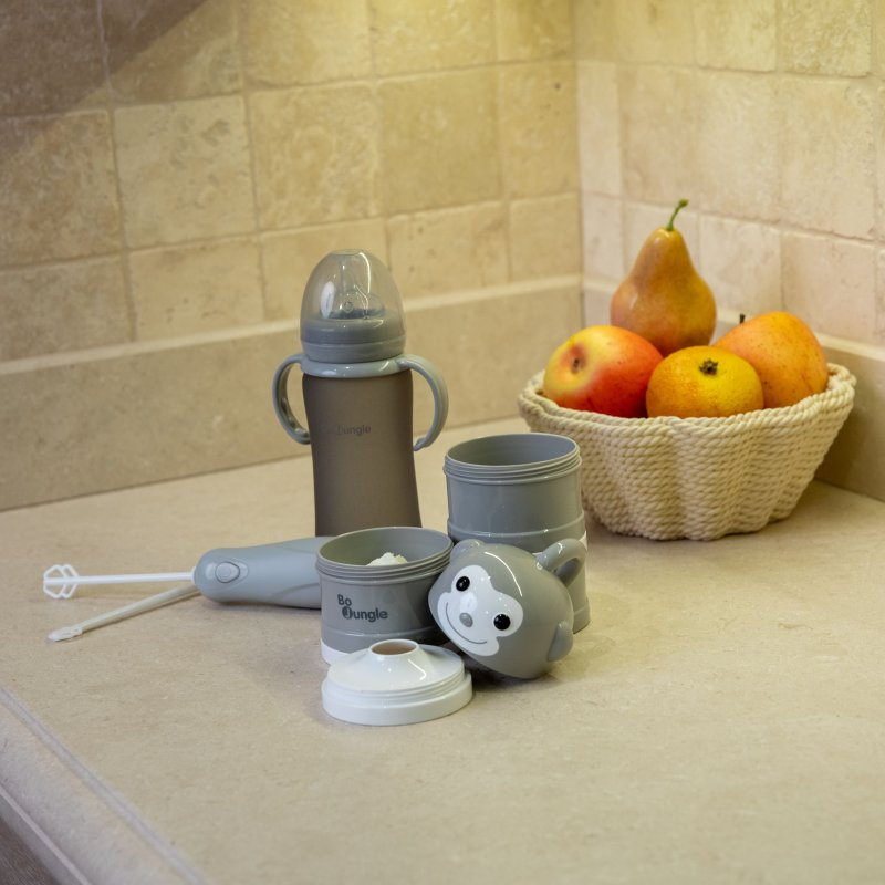 Bo Jungle mixér na sušené mléko B-Powder Mixer Grey