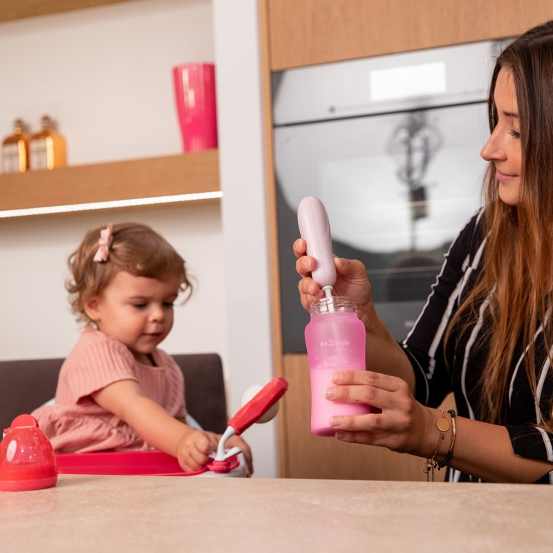 Bo Jungle mixér na sušené mléko B-Powder Mixer Pastel Pink