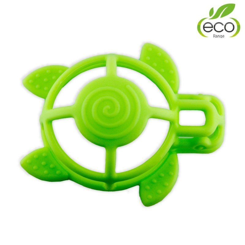 Bo Jungle silikonové kousátko B-Turtle Green