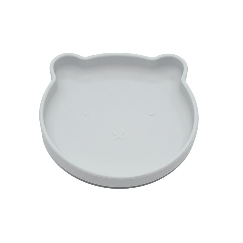 Bo Jungle silikonový talíř s přísavkou Bear Grey