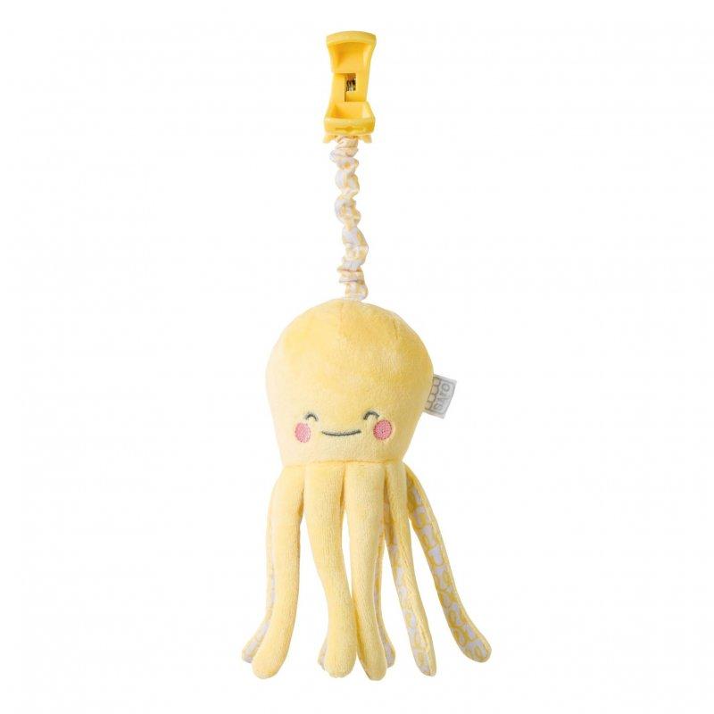 Saro Baby chobotnička s klipem Happy Sea Yellow