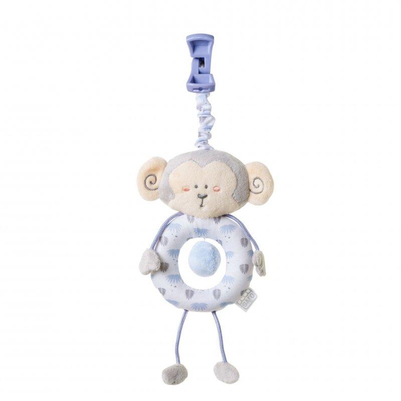 Saro Baby závěsná hračka s klipem Jungle Party Monkey