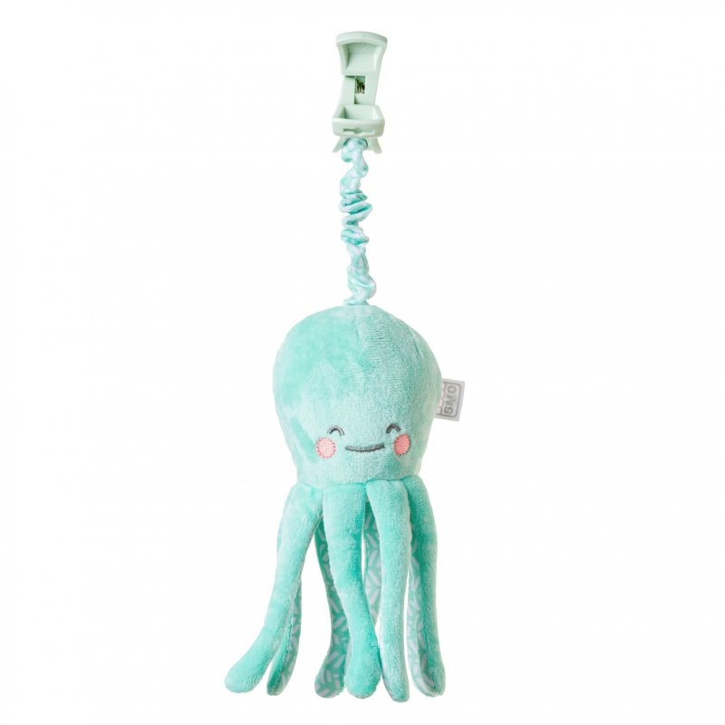 Saro Baby chobotnička s klipem Happy Sea Mint