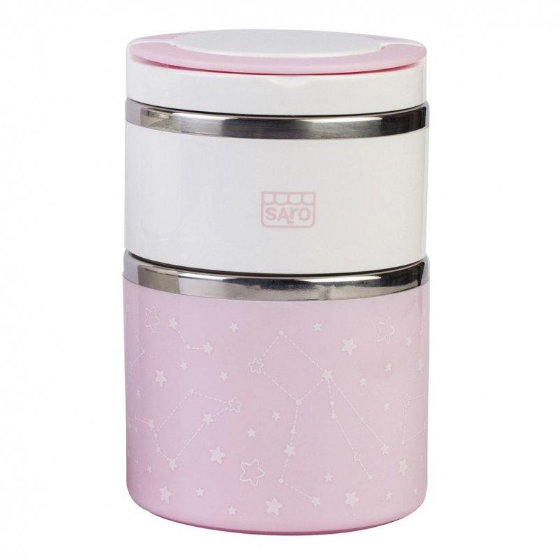 Saro BabyNerezová termoska na jídlo 820ml Pink