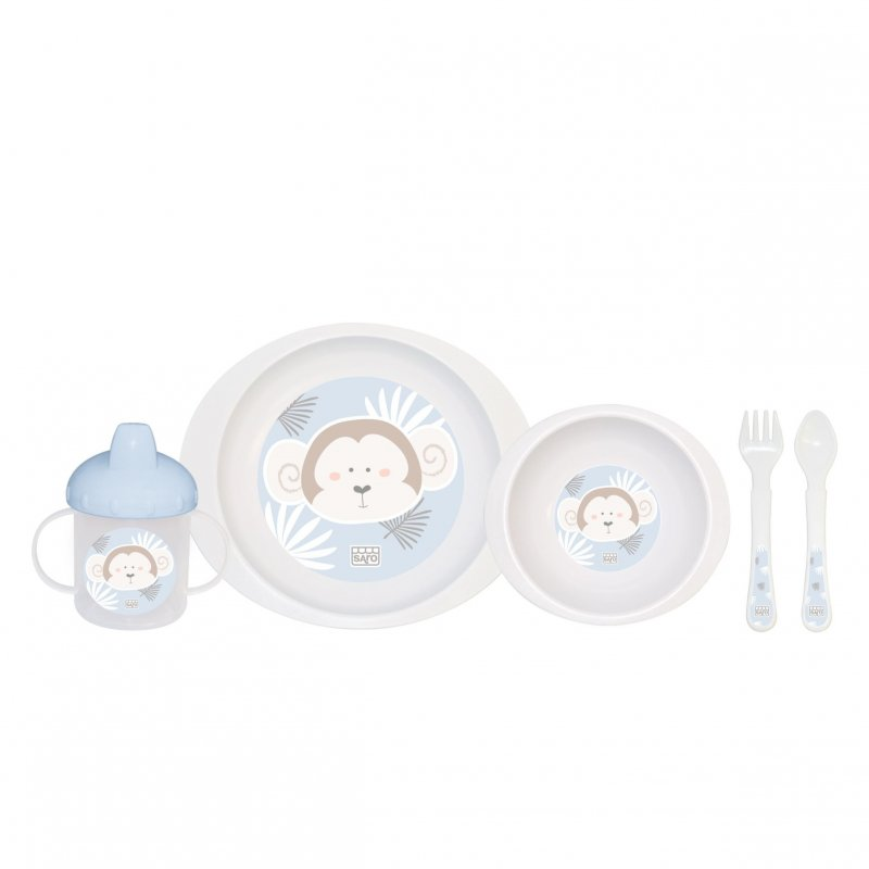 Saro Baby jídelní sada Jungle Party Monkey